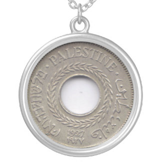 Palestine National Pride Medallion Silver Plated Necklace