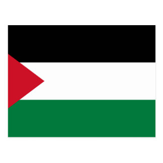 Palestine National World Flag Postcard