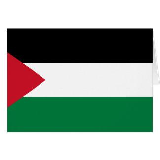 Palestine, Palau flag Card