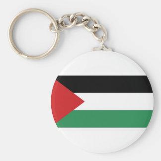 Palestine Palestinian Flag Basic Round Button Keychain