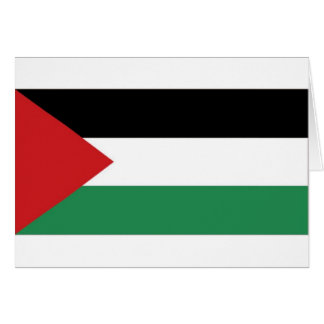 Palestine Palestinian Flag Card