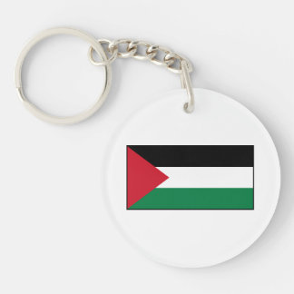 Palestine – Palestinian Flag Double-Sided Round Acrylic Keychain