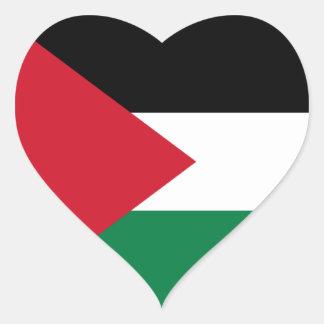 Palestine/Palestinian Flag Heart Sticker