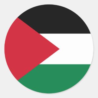 Palestine/Palestinian Flag Round Sticker