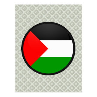 Palestine quality Flag Circle Postcard