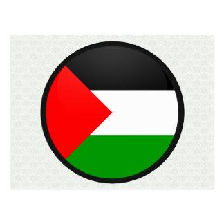 Palestine quality Flag Circle Postcards