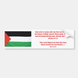 PALESTINE Qur'an 4:75 Bumper Sticker