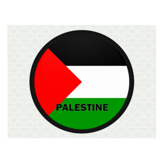 Palestine Roundel quality Flag Postcards