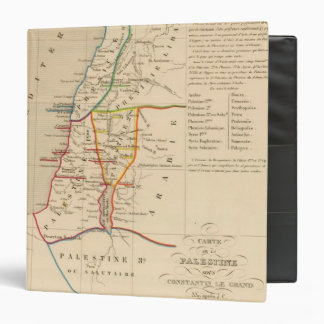 Palestine sous Constantin le Grand, 330 apres JC 3 Ring Binder