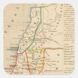 Palestine sous Constantin le Grand, 330 apres JC Square Sticker