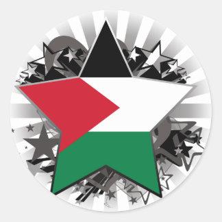 Palestine Star Classic Round Sticker