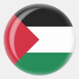 Palestine Round Stickers