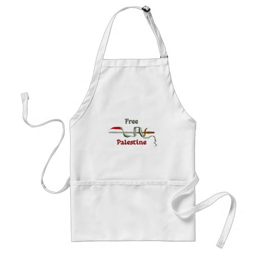 Palestine sword surrounded by the Palestinian flag Adult Apron