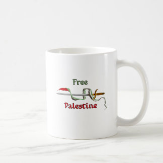 Palestine sword surrounded by the Palestinian flag Mug
