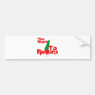Palestine: The RIght To Return Car Bumper Sticker