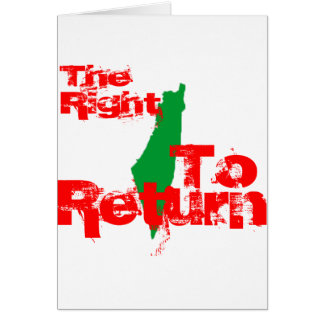 Palestine: The RIght To Return Card
