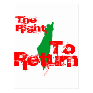 Palestine: The RIght To Return Postcard