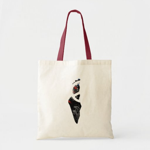 Palestine Trendy Peace Sign with Palestinian map Bags