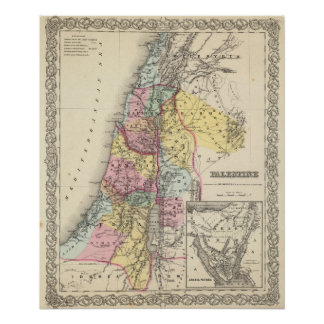 Palestine with Arabia Petraea Poster