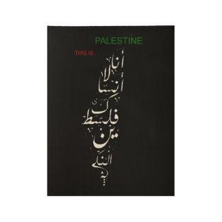 palestine wood poster