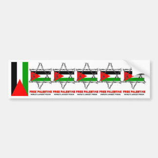 PALESTINE: WORLD'S LARGEST PRISON BUMPER STICKER