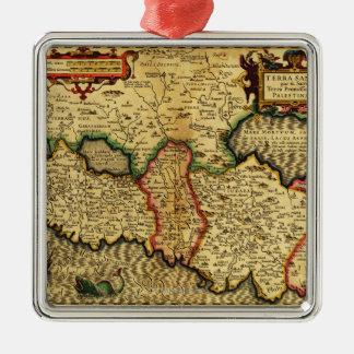 PalestinePanoramic MapPalestine 5 Metal Ornament
