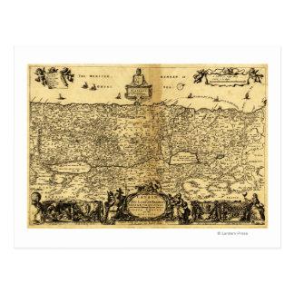 PalestinePanoramic MapPalestine Postcard