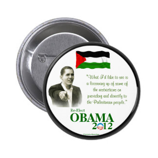 Palestinian-Americans for OBAMA 2012 political pin