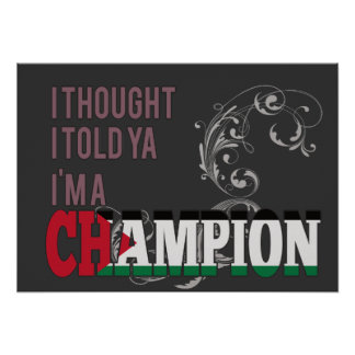 Palestinian and a Champion Poster