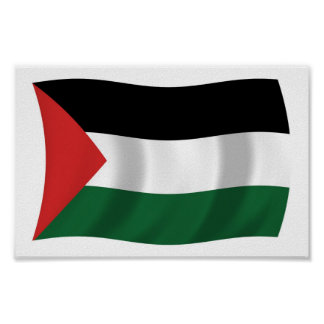 Palestinian Authority Flag Poster Print