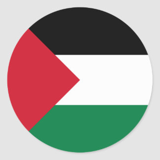 Palestinian Authority Flag Round Stickers (pack)