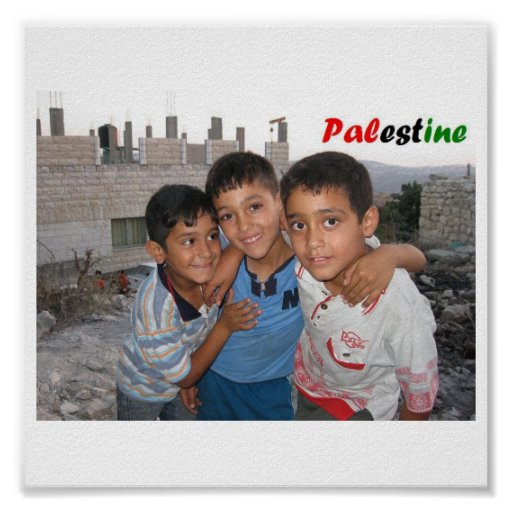 Palestinian Boys Poster