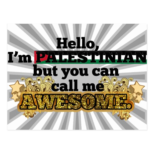 Palestinian, but call me Awesome Postcard