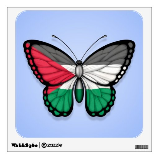 Palestinian Butterfly Flag on Blue Room Sticker