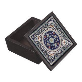 Palestinian Ceramic Tile Cobalt Blue - Small Box