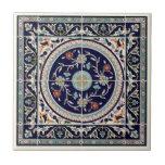 Palestinian Ceramic Tile Cobalt Blue - Trivet