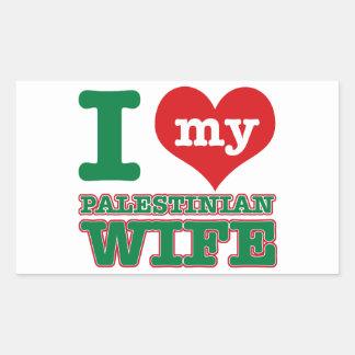 Palestinian designs rectangle sticker