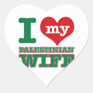 Palestinian designs heart stickers