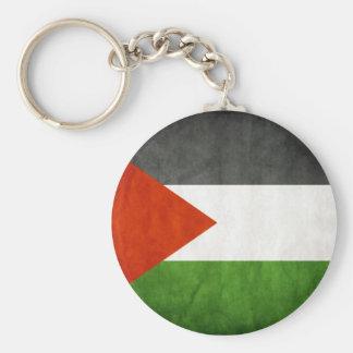 Palestinian Flag Basic Round Button Keychain