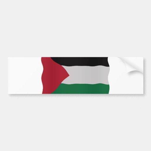 Palestinian flag bumper sticker