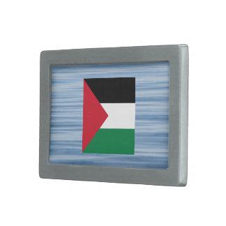 Palestinian Flag Floating on water Rectangular Belt Buckle