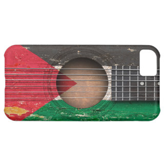 Palestinian Flag on Old Acoustic Guitar iPhone 5C Cases