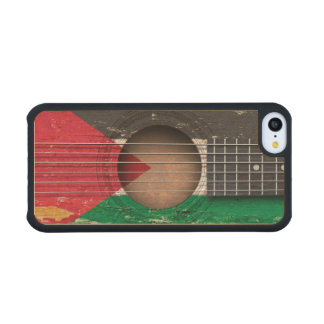 Palestinian Flag on Old Acoustic Guitar Carved® Maple iPhone 5C Slim Case