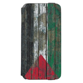 Palestinian Flag on Rough Wood Boards Effect Incipio Watson™ iPhone 6 Wallet Case