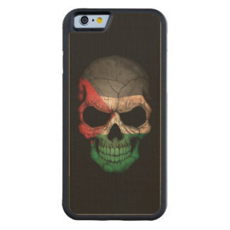 Palestinian Flag Skull on Black Carved® Maple iPhone 6 Bumper