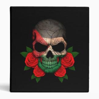 Palestinian Flag Skull with Red Roses Vinyl Binders
