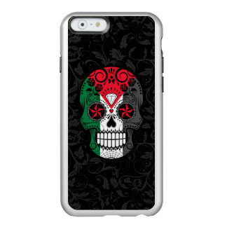 Palestinian Flag Sugar Skull with Roses Incipio Feather® Shine iPhone 6 Case