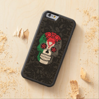 Palestinian Flag Sugar Skull with Roses Carved® Maple iPhone 6 Bumper