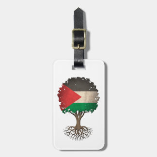 Palestinian Flag Tree of Life Customizable Tags For Luggage
