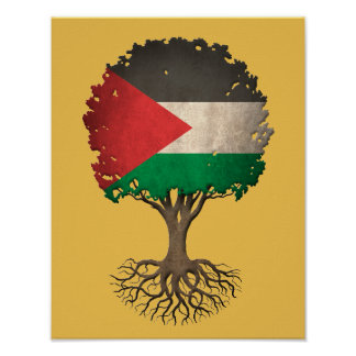 Palestinian Flag Tree of Life Customizable Poster